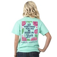"""Simply Southern """"Let All"""" Short Sleeve Tee"""