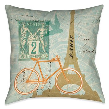 Postcard From Paris I Indoor Decorative Pillow