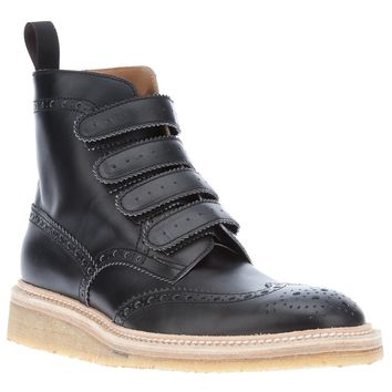 Weber Hodel Feder Brogue Detail Hi-Top