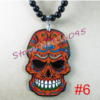 Skull Pendant Acrylic Good Wood NYC Hip-Hop  Fashion Necklace