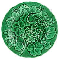 Green Majolica Serving Dish by Davenport Antique English 19th Century