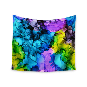 "Claire Day ""Mermaids"" Blue Paint Wall Tapestry"