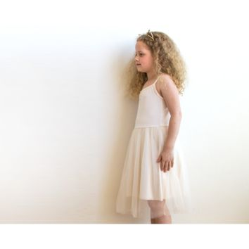 Champagne ballerina tulle Girls dress 5001