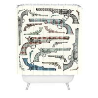 Belle13 Vintage Pistols Shower Curtain