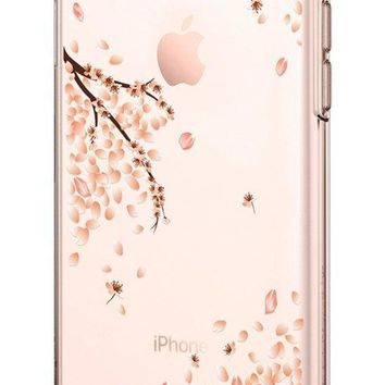 DCK4S2 Spigen Liquid Crystal [2nd Generation] iPhone 8 Case / iPhone 7 Case with Slim Protection and Premium Clarity for Apple iPhone 8 (2017) / iPhone 7 (2016) - Blossom