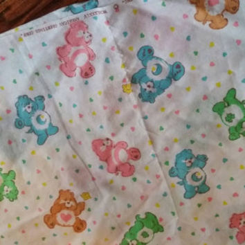 "Vintage 1984 Licensed Care Bears Fabric 1 yd x 20"" wide with Bonus 8"" x 10"" square"