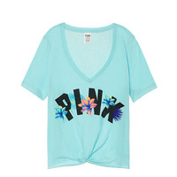 Perfect Knotted V-Neck Tee - PINK - Victoria's Secret