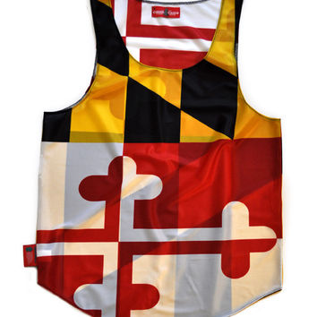 "Maryland ""Free State"" Flag Tank Top"