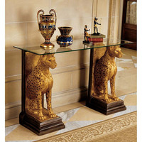 Park Avenue Collection Royal Egyptian Cheetah Console