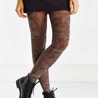 Tonal Paisley Tight - Urban Outfitters