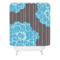 Caroline Okun Autumn Peony Shower Curtain