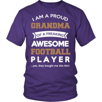 """""""Proud Grandma of An Awesome Football Player"""" T-Shirt"""