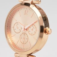 New Look Rose Gold Link Detail Watch