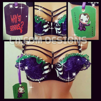 Joker  inspired rave bra