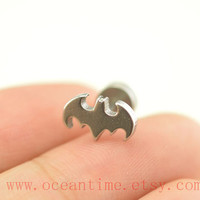 Tragus Earring Jewelry,bat piercing jewelry,cool bat ear Helix Cartilage jewelry,earring,oceantime