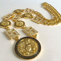 GREEK CUBAN LINK CHAIN NECKLACE