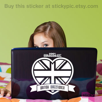 100% British Directioner Laptop/Wall Decal by stickypic