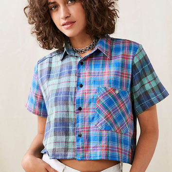 Urban Renewal Remade Pieced Flannel Shirt - Urban Outfitters