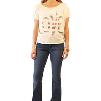 Shine Love tee in Navy for sale online from Carolina Boutique in downtown Mill Valley
