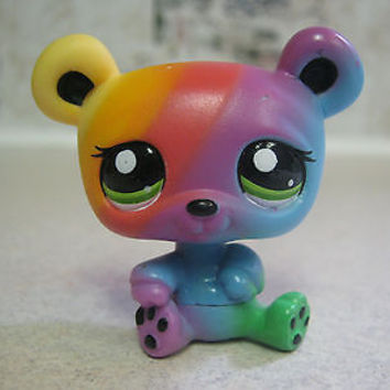 Littlest Pet Shop Rainbow Green Eyes Panda Bear #2584 Blind Bag RARE Original