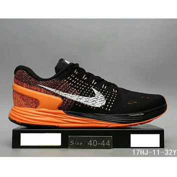 Nike Lunarglide 7 Moon Fly line sports running shoes sneakers F-HAOXIE-ADXJ Black