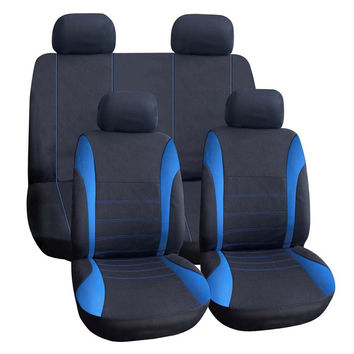 Universal Car Seat Cushion Covers Polyester Seat Back Covers Auto Polyester Material Styling Interior Seat Accessories