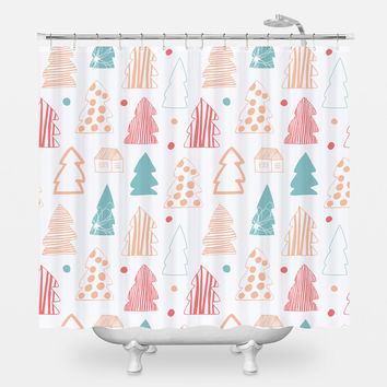 Cozy Winter Shower Curtain
