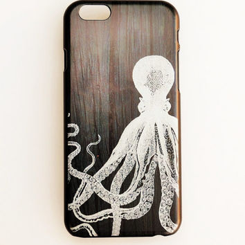 iPhone 6 Case Cover Octopus iPhone 6 Hard Case Modern Phone Back Cover For iPhone 6 Inspirational Slim Design Case