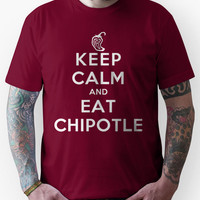 Keep Calm and Eat Chipotle (Pepper) DS Unisex T-Shirt