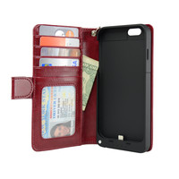 4.7-inch iPhone 6 Wallet Power Battery Case 3200 mAh