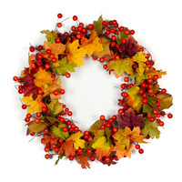 Fall Orange Berry Wreath