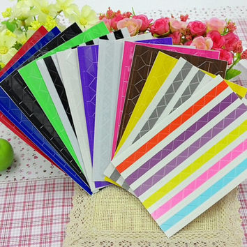 2Sets Of 204pcs DIY Colorful Corner Scrapbook Paper Photo Albums Frame Picture Decoration PVC Stickers Mini Film Home Decor