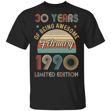 Vintage February 1990 Limited Edition 30th Birthday Gifts