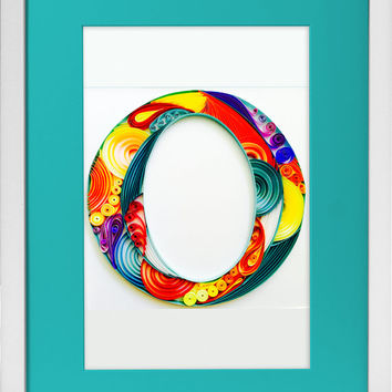 Monograms - Unique Paper Quilled Wall Art for Home Decor (paper quilling handcrafted art piece made with love by an artist in California)