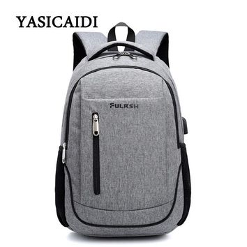 USB Unisex Design Backpack Book Bags for School Backpack Casual Rucksack Daypack Oxford Canvas Laptop Fashion Man Backpacks