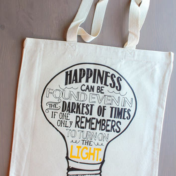 Harry Potter Dumbledor Quote Canvas Tote Bag