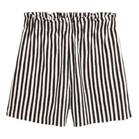 Wide shorts - White/Striped - Ladies | H&M GB