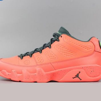 [Free Shipping ]Nike Air Jordan 9 Retro Low Bright Mango Hasta 832822-805  Basketball Sneaker