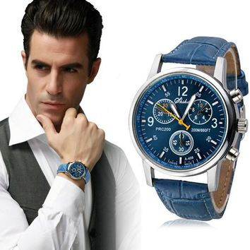 Fashion Faux Leather Men's Watch