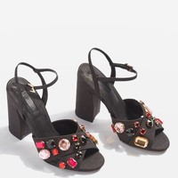 RUBIES Gem Embellished Sandals