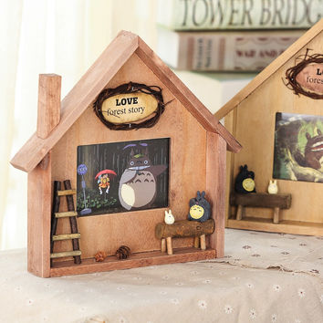 Korean Gifts Cats Photo Frame Decoration Home Wooden Home Decor [6282164102]
