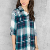 Cheyenne Plaid Buttoned Blouse