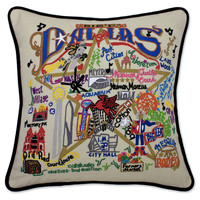 Dallas Hand Embroidered Pillow
