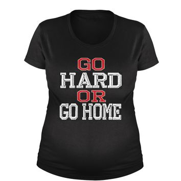 Go Hard Or Go Home Workout Maternity Pregnancy Scoop Neck T-Shirt