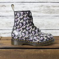 Dr Martens Floral Boots - American Threads