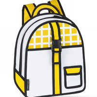 Yellow Checked Backpack