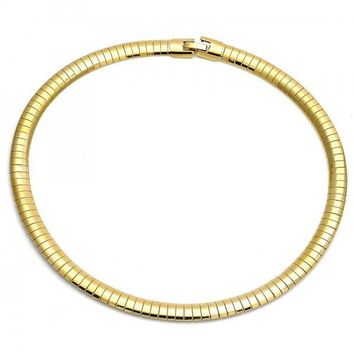 Gold Layered Fancy Necklace, Herringbone Design, Gold Tone