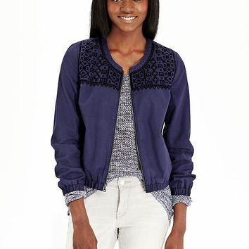 Old Navy Womens Jacquard Patterned Bomber Jackets
