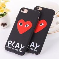 Trendy Unique Play Heart Print Iphone 6 6s 6Plus 6sPlus 7 7 Plus 8 8 Plus X Phone Cover Case F