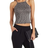 Combo Ribbed Bib Neck Top by Charlotte Russe